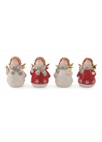 Christmas Medium Angel in dolomite 4 assorted models 2423008 Villa d'Este