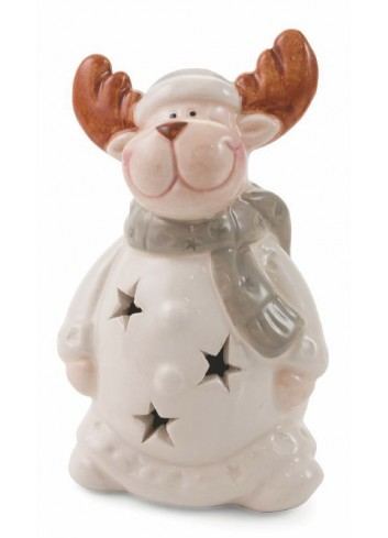 Dolomite Christmas Tealight Small Reindeer 2 assorted colors 2423016 Villa d'Este