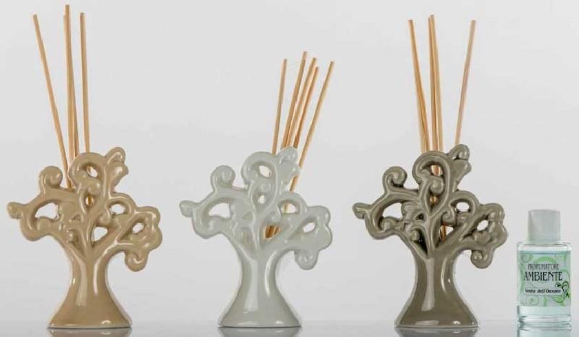 Profumatore Albero della vita in ceramica 3 colori assortiti A7660 Kharma Living