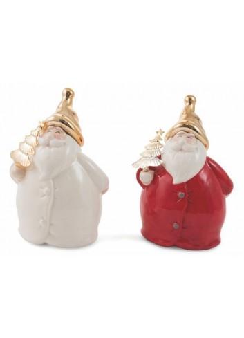 Christmas Dolomite Medium Santa Claus 2 assorted colors 2423018 Villa d'Este