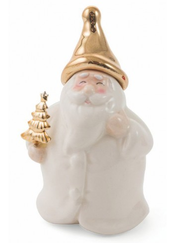 Christmas Dolomite Small Santa Claus 2 assorted colors 2423019 Villa d'Este