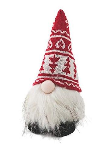 Troll Gnome Door stopper with red hat and beard in polyresin and fabric 2423046 Villa d'Este