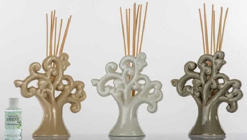 Profumatore Albero della vita in ceramica 3 colori assortiti A7659 Kharma Living