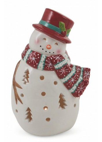 Christmascarol Dolomite Big snowman with led 2 assorted models 2424561 Villa d'Este