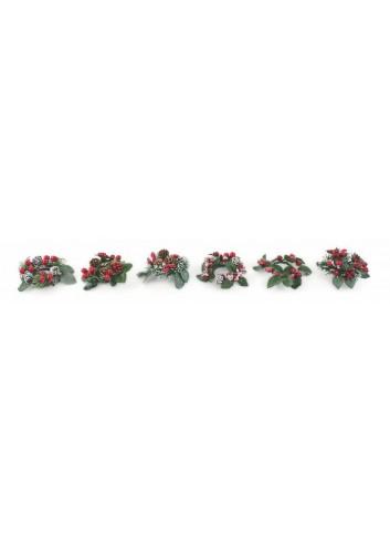 Christmas Anello Portacandela in plastica 6 modelli assortiti 2424789 Villa d'Este