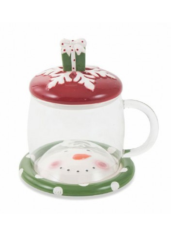Glass Bonbon Mug Set with saucer and dolomite stopper 6 assorted models 2424796 Villa d'Este