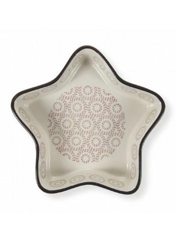 Stoneware Noel Medium Star Oven Dish 5900479 Villa d'Este
