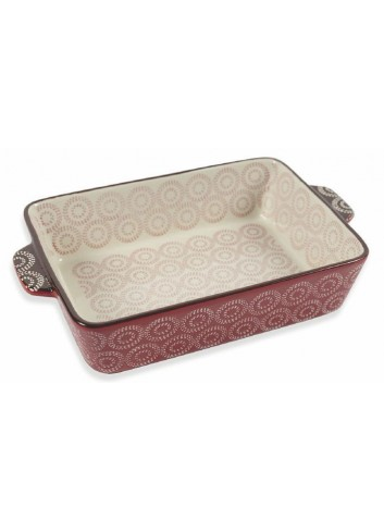 Stoneware Noel Large rectangular baking tray with handles 5900486 Villa d'Este