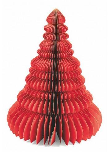 Origami Albero natalizio in carta rosso H. 40 cm 5900517 Villa d'Este