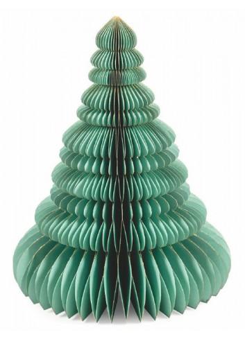 Origami Albero natalizio in carta verde H. 40 cm 5900520 Villa d'Este