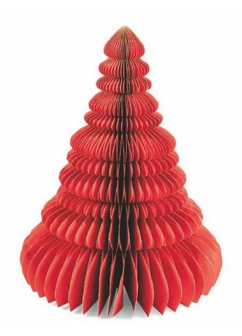 Origami Albero natalizio in carta rosso H. 50 cm 5900521 Villa d'Este