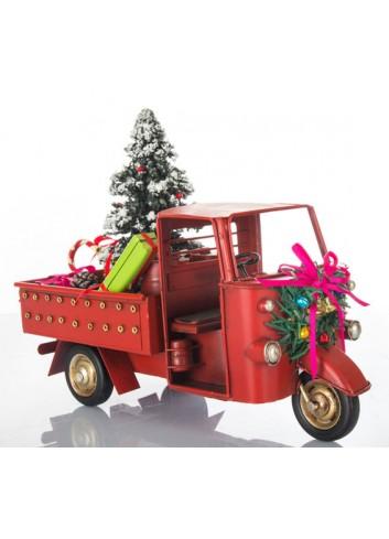 Apecar con Albero di Natale L. 26 cm E3413 Kharma Living