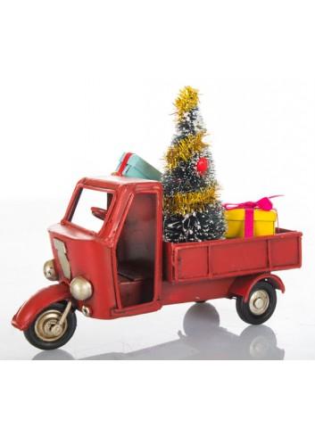 Apecar con Albero di Natale L. 11 cm E3411 Kharma Living