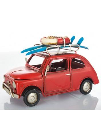 Auto vintage rossa L. 16 cm E3404 Kharma Living