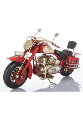 Moto Harley rossa L. 28 cm E3400 Kharma Living