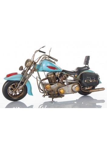 Moto Harley azzurra L. 36 cm E3399 Kharma Living