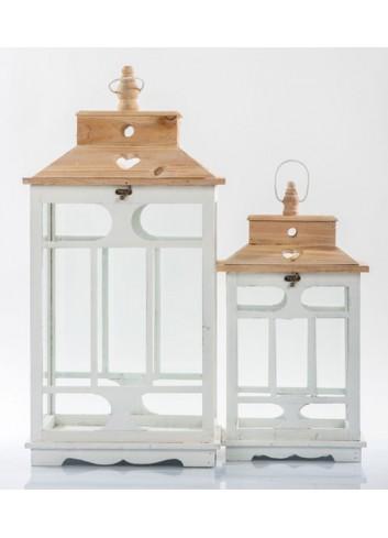 Set 2 Lanterne in legno E3445 Kharma Living