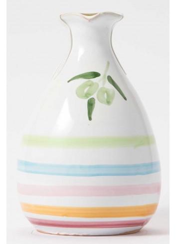 Orcetto in terracotta - decoro multicolor con olio extravergine  di oliva ORCE100/025 Linea Oliera Lamantea