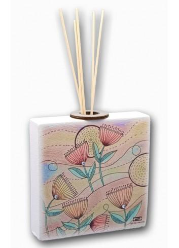 Profumatore in metallo e legno con Stampa colorata Spring + strass SPR-02-04-01 Serie Spring Negò
