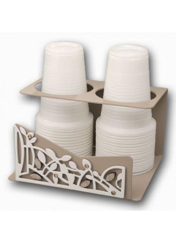 Portabicchieri in metallo con applicazione Intrecci + strass TRE-09 Serie Intrecci Negò