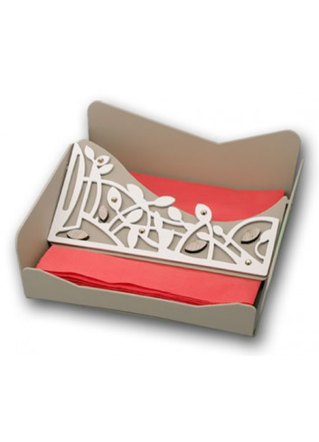 Portatovaglioli in metallo con applicazione Intrecci + strass TRE-11 Serie Intrecci Negò