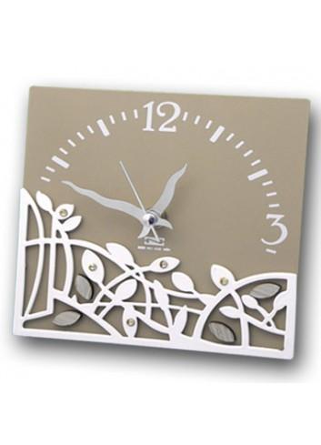 Orologio in metallo con applicazione Intrecci + strass TRE-03-06 Serie Intrecci Negò