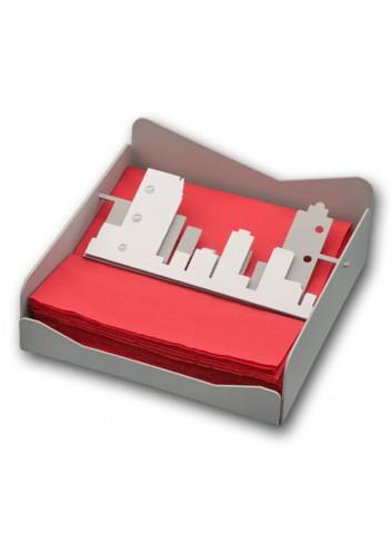 Portatovaglioli in metallo con applicazione City + strass NYC-04 Serie City Casa Negò