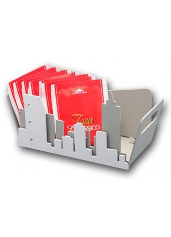 Vaschetta in metallo con applicazione City + strass NYC-14-16 Serie City Casa Negò