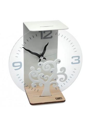 Orologio con base in rovere + applicazione Albero della vita + strass SRA-03-06 Serie Sara Negò