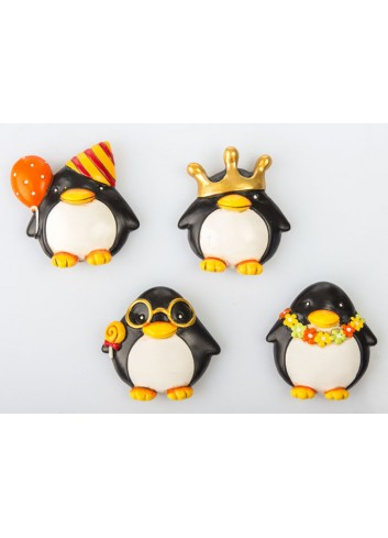 Pinguino Magnete 4 soggetti assortiti C2003 Kharma Living