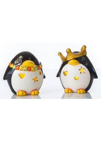 Pinguino Led Luce notturna 2 soggetti assortiti C2006 Kharma Living