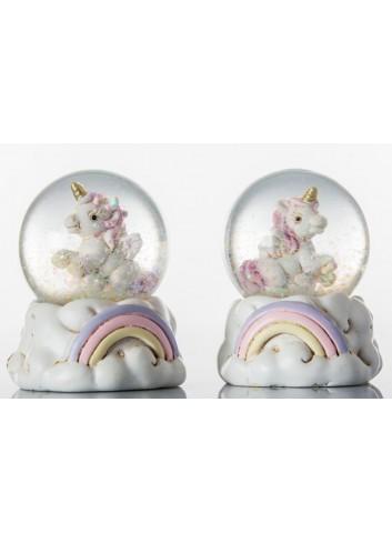 Unicorno Sfera Rosa 2 modelli assortiti C1962 Kharma Living