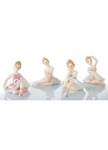 Ballerina seduta 6 x 6 cm 4 soggetti assortiti B9336 Kharma Living