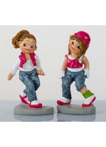 Mini Hip Hop Dance H. 6 cm 2 soggetti assortiti B9224 Kharma Living