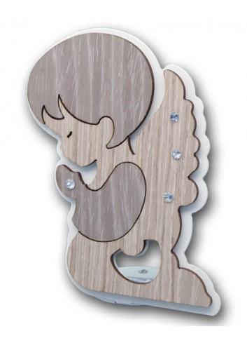 Apribottiglie Angelo in metallo e legno + strass ANG-A Serie Angelo Negò
