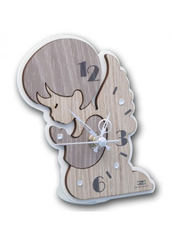 Orologio Angelo in metallo e legno + strass ANG-03-06 Serie Angelo Negò