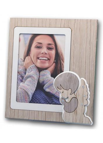 Portafoto Angelo in metallo e legno + strass ANG-01-1-3 Serie Angelo Negò