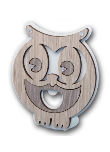 Apribottiglie Gufo in metallo e legno + strass CIV-A Serie Gufo 2020 Negò