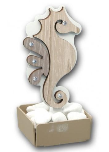 Profumatore Cavalluccio marino in metallo e legno + strass ARE-02 Serie Cavalluccio Negò