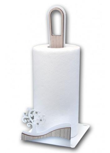 Portarotolo in metallo con applicazione Albero della vita + strass CNZ-07 Serie Albero Casa Negò