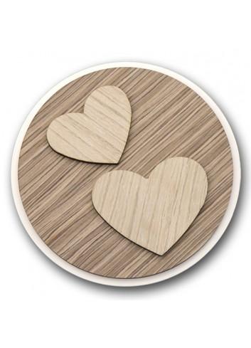 Sottopentola tondo in metallo e legno + applicazione Cuori in legno STP-20 Serie Sottopentola 2020 Negò