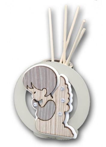 Profumatore in metallo con applicazione Angelo in legno + strass LIT-01AN-02AN Serie Little Negò