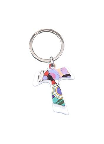 Portachiavi doppio in metallo - Tao bianco + Tao multicolor DY-01/LO Serie Candy Negò