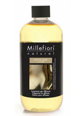 Ricarica per diffusore a bastoncino Mineral Gold 7REMMG-7REMG Natural Millefiori Milano