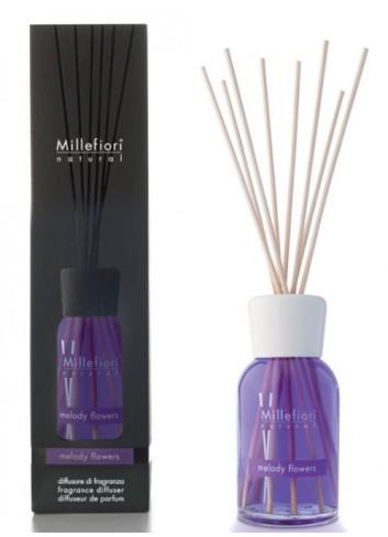 Diffusore di fragranza a bastoncini Melody Flowers 7MDMF-7DDMF Natural Millefiori Milano