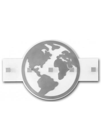 Appendiabiti da parete in metallo con appl. Mondo MON-11 Serie World 2020 Negò