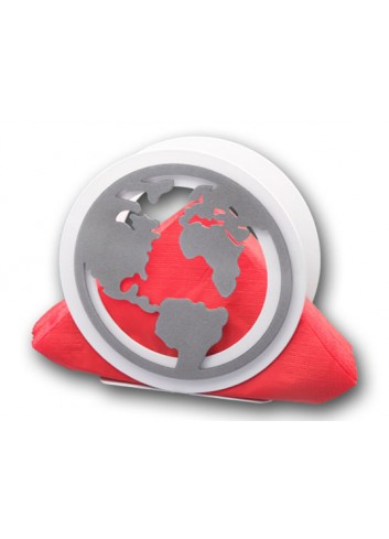 Portatovaglioli in metallo + appl. Mondo MON-04 Serie World 2020 Negò