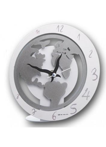 Orologio da appoggio in metallo + appl. Mondo MON-03-06 Serie World 2020 Negò
