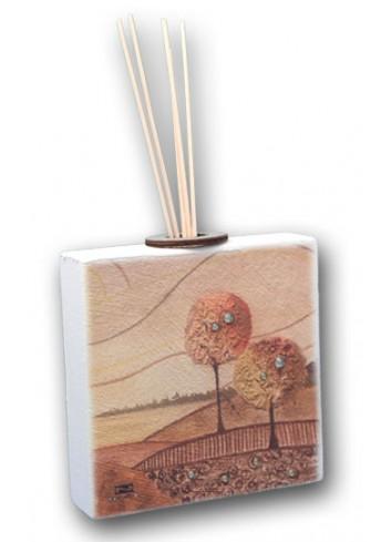 Profumatore in ceramica con stampa Paesaggio Autunno + strass PAUT-02-04-01 Serie Paesaggio Autunno Negò