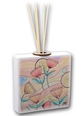 Profumatore in ceramica con stampa Spring + strass SPRI-02-04-01 Serie Spring Negò